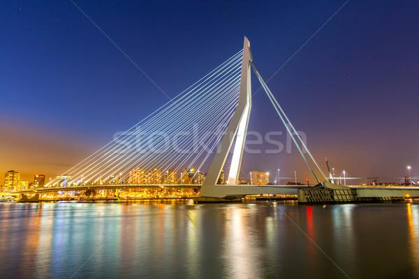 Erasmus bridge Rotterdam Stock photo © vichie81