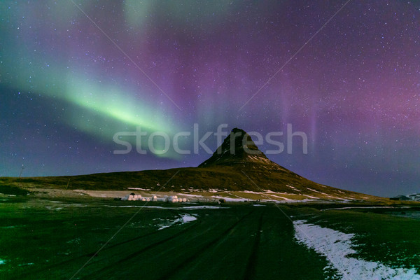Northern Light Aurora Iceland Stock photo © vichie81