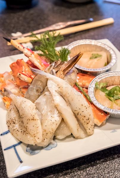 Fraîches fruits de mer japonais alimentaire poissons Photo stock © vichie81