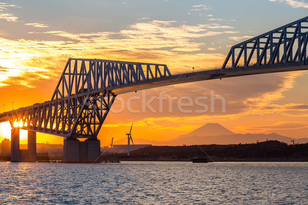 Токио ворот моста ориентир горные fuji Сток-фото © vichie81