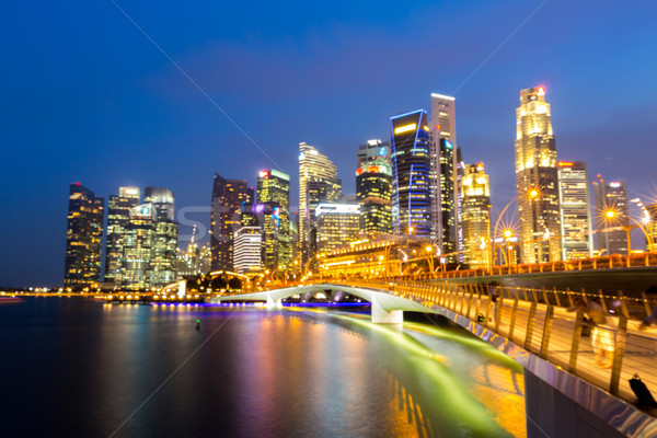 Singapore downtown Sunset Stock photo © vichie81