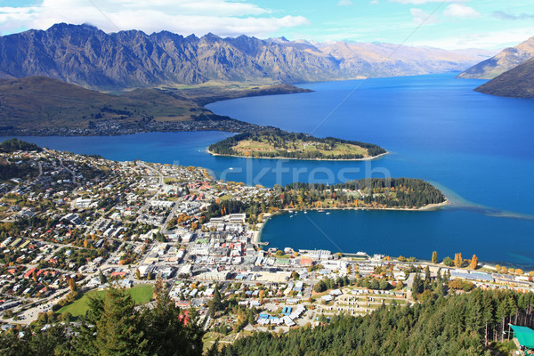 Queenstown cityscape from top Stock photo © vichie81