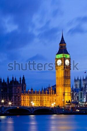 Big Ben London folyó Temze nemzetközi látványosság Anglia Stock fotó © vichie81