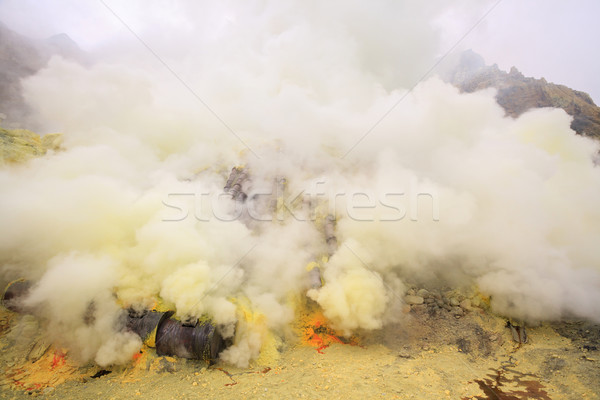 Sulfur mining plant Stock photo © vichie81