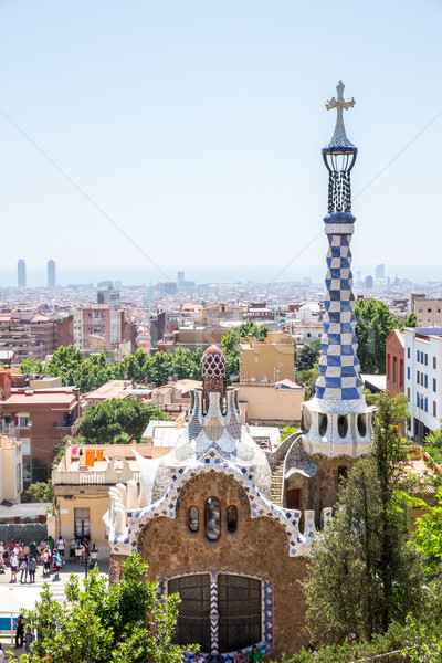 Parc Guell Barcelona Stock photo © vichie81