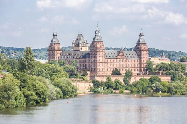 Palácio Frankfurt árvore edifício parede arte Foto stock © vichie81