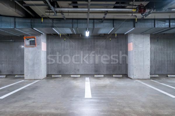 Parkeren garage ondergrondse lege interieur Stockfoto © vichie81