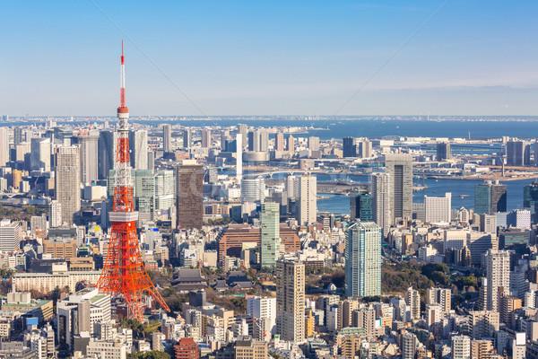 Tokyo kule ufuk çizgisi Japonya şehir köprü Stok fotoğraf © vichie81