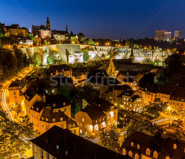 Luxembourg City night Stock photo © vichie81