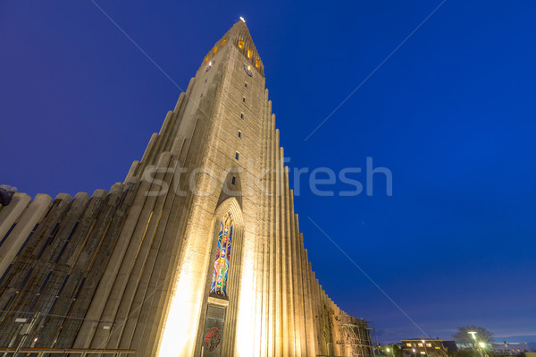 Hallgrimskirkja Cathedral Stock photo © vichie81