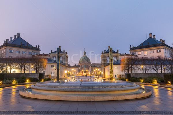Królewski rodziny miasta placu budynku zimą Zdjęcia stock © vichie81