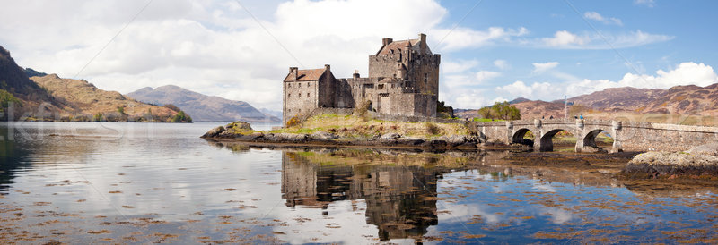 Eilean Donan Castle Scotland Panorama Stock photo © vichie81