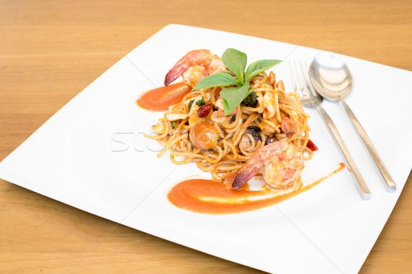 Seafood Spaghetti Stock photo © vichie81
