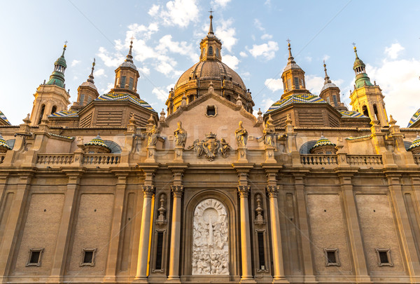 Bazilika katedrális Spanyolország hölgy oszlop épület Stock fotó © vichie81