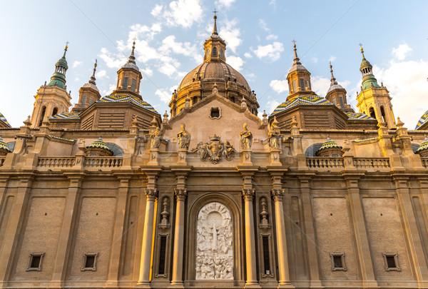 Basiliek kathedraal Spanje dame pijler gebouw Stockfoto © vichie81