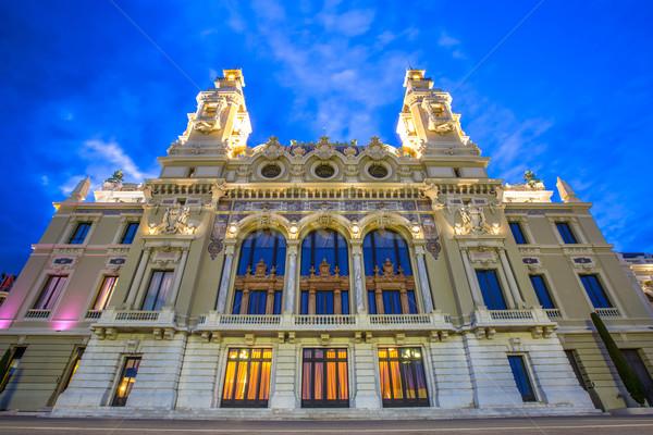 опера дома Монако цветы деньги дерево Сток-фото © vichie81