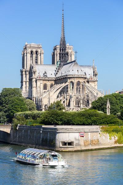 Cathédrale dame Paris croisière touristiques rivière Photo stock © vichie81