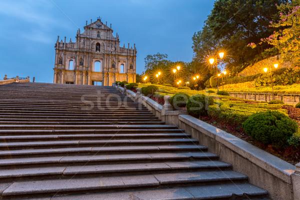 Ruínas um o melhor histórico centro unesco Foto stock © vichie81