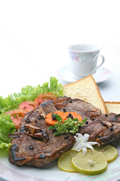 Bot peper biefstuk dressing plantaardige Stockfoto © vichie81