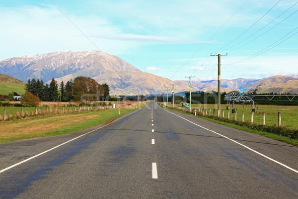Hosszú út nyújtás ki távolság hó Stock fotó © vichie81