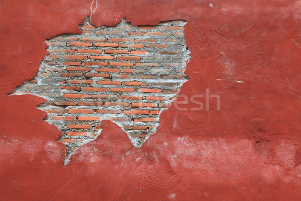 Fragment of red brick wall Stock photo © vichie81