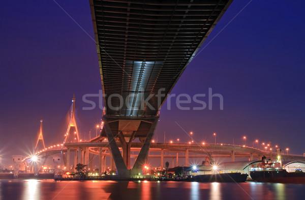 Бангкок как моста пейзаж промышленных кольца Сток-фото © vichie81