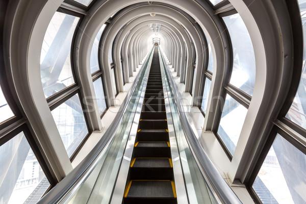 Başarılı perspektif merdiven içinde çağdaş mavi Stok fotoğraf © vichie81