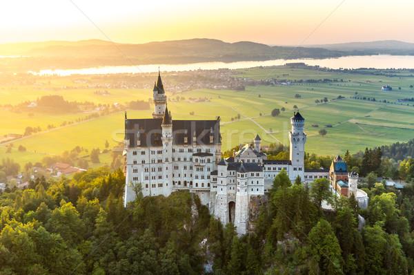 Neuschwanstein castle sunset Stock photo © vichie81