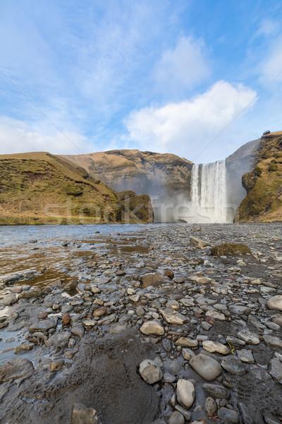 Cachoeira Islândia sul cidade primavera cortina Foto stock © vichie81