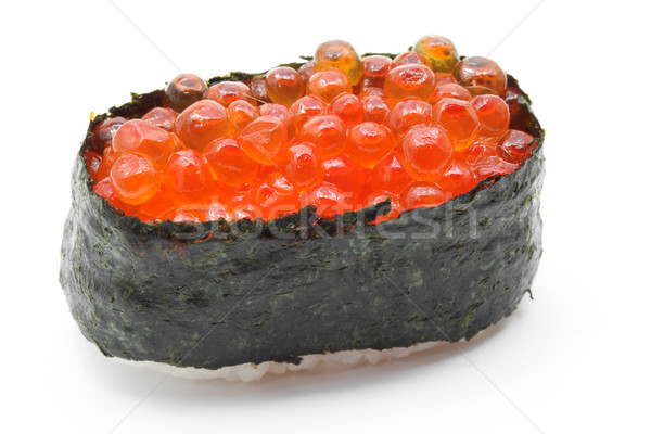 ikura salmon egg roll sushi Stock photo © vichie81