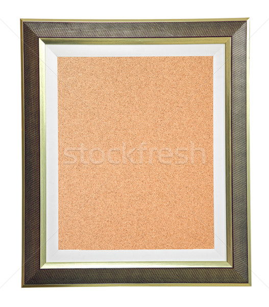 isolated cork notice board with modern frame Stock photo © vichie81