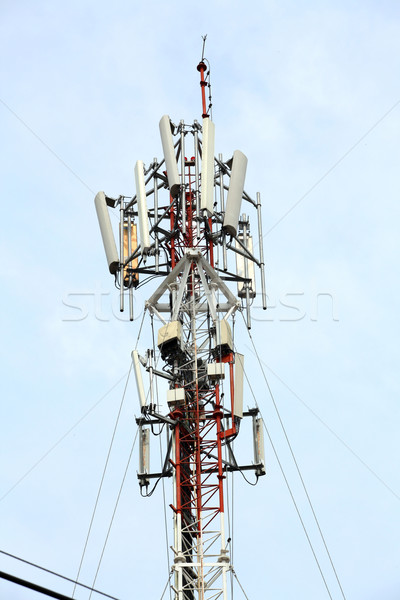 mobile phone Telecommunication Radio antenna Tower Stock photo © vichie81