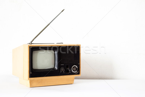 Vintage Yellow TV Stock photo © vichie81