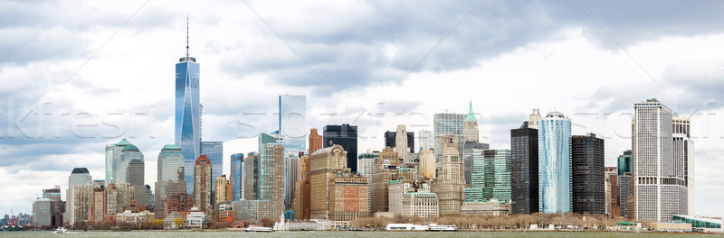Lower Manhattan Panorama NYC Stock photo © vichie81