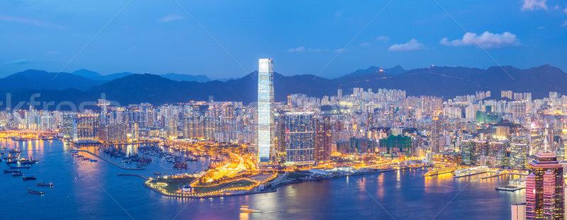 Panorama Hong Kong Skyline Stock photo © vichie81