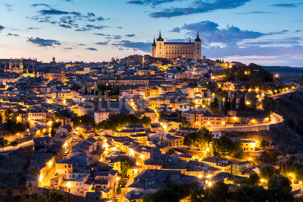 Toledo at dusk Spain Stock photo © vichie81