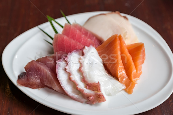 Sashimi set japanese alimentare mare arancione Foto d'archivio © vichie81