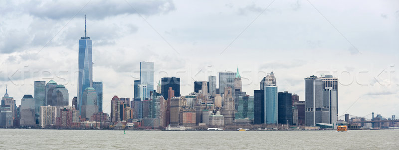Lower Manhatta NYC  Panorama Stock photo © vichie81