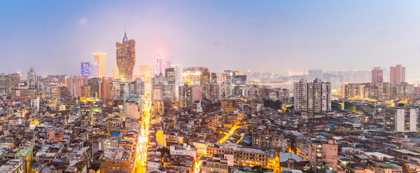 Paisaje urbano horizonte anochecer ahora China panorama Foto stock © vichie81