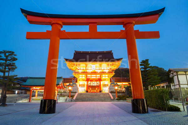 Kyoto crépuscule Japon ciel été Photo stock © vichie81