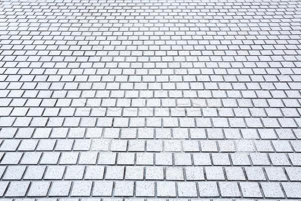 Сток-фото: кирпичных · тротуар · дороги · перспективы · конкретные · строительство