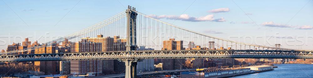 Panorama of Manhattan Bridge Stock photo © vichie81