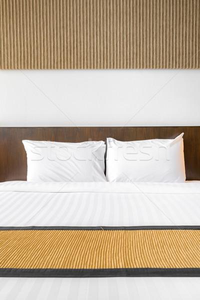White pillow bedroom Stock photo © vichie81