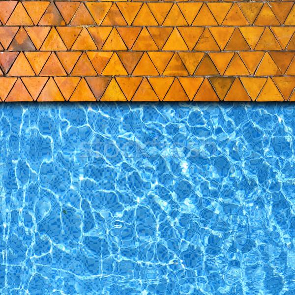 Triángulo piedra pavimento piscina borde primavera Foto stock © vichie81