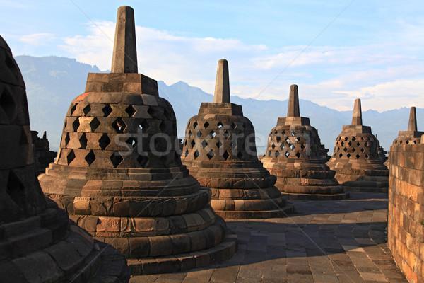 храма архитектура Ява Индонезия синий Сток-фото © vichie81