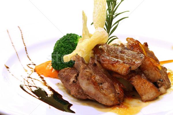 Gourmet grilled Duck steak Stock photo © vichie81