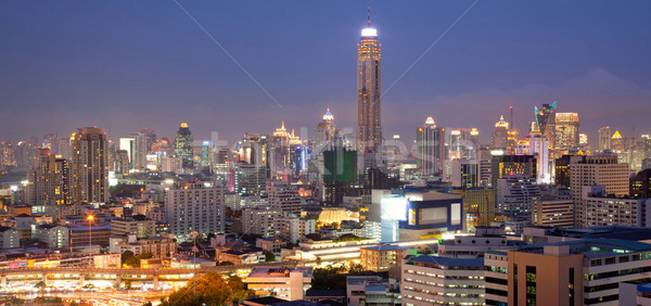 Bangkok panorama zafer şehir merkezinde Stok fotoğraf © vichie81