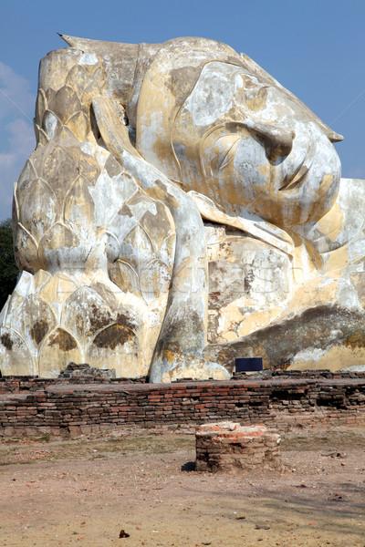giant reclining buddha ruin Stock photo © vichie81