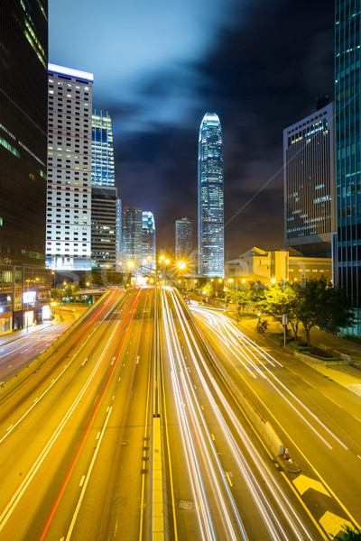 Hong Kong horizonte noche negocios edificio ciudad Foto stock © vichie81