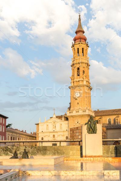大聖堂 鐘 塔 スペイン 建物 旅行 ストックフォト © vichie81